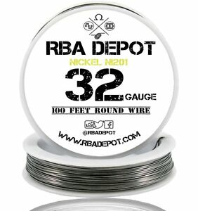 32 Gauge Awg Pure Nickel 201 Ni201 Competition Non Resistance Roll 500ft white