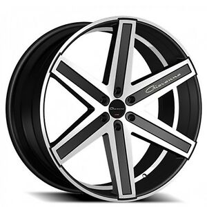 4rims 24 Giovanna Wheels Dramuno 6 Machined Black Rims
