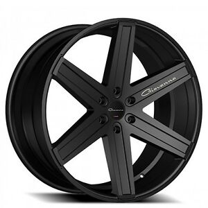 4rims 24 Giovanna Wheels Dramuno 6 Black Rims