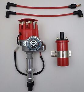 Pontiac Red Small Cap Hei Rtr Distributor Red 45k Coil 301 326 350 389 400 455