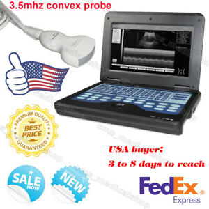 Us Seller fda Portable 10 1 Laptop Ultrasound Scanner Machine With Convex Probe