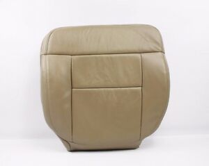 2005 2008 Ford F150 Lariat Driver Side Bottom Replacement Leather Seat Cover Tan