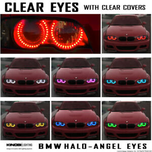 Clear Eyes Bmw E36 Multi color Led Halo angel Eyes Rings Kit Rf Remote Buy It