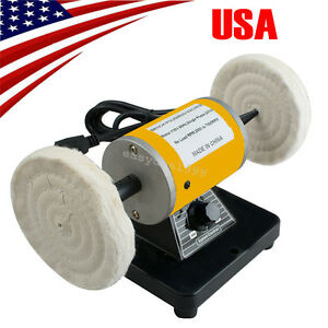 usa Polisher Polishing Machine Dental Lab Lathe Bench Buffing Grinder Jewelry