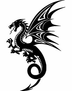 Dragon Wings Tribal Mythical Creature Decal Car Laptop Wall Vinyl Sticker 8