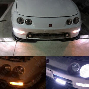 Switchback Parking Signal Light White Side Marker Led Bulbs For 94 01 Integra