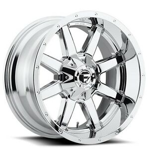 4new Off Road 18x9 Fuel Wheels D536 Maverick Chrome Rims