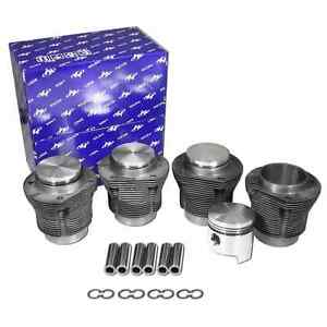 Empi Piston Cyl Set 88mm X 69mm Stroke 1700cc Slip in type 1 2 3 Bug Ghia