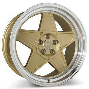 4wheels 20 Staggered Ace Alloy Wheels Sl 5 Matte Gold With Diamond Lip