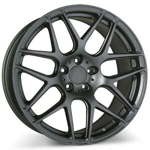 4wheels 20 Staggered Ace Alloy Wheels Mesh 7 Matte Mica Gray Rims
