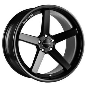 4wheels 20 Staggered Stance Wheels Sc5 Bm With Gloss Black Lip Rims