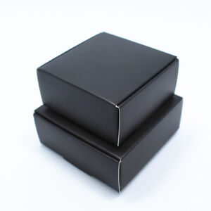 Kraft Paper Candy Box Black Packing Boxes Craft Gift Handmade Soap Jewelry Party