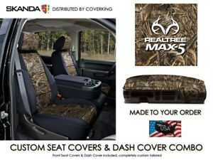 Realtree Max 5 Camo Front Custom Seat Covers Dash Cover For Chevy Tahoe