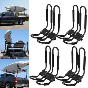 4 Pair Universal Kayak Roof Rack For Suv Car Top Mount Carrier Cross J Bar Canoe