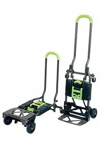 Cosco Shifter Multi position Heavy Duty Folding Hand Truck And Dolly Green New