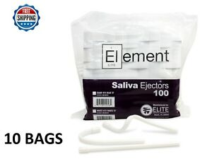 1000 Pc Saliva Ejector White W White Tip Bendable Dental Disposable 6