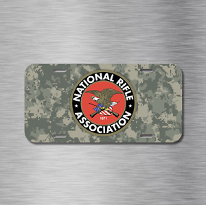 Nra Vehicle License Plate Auto Car National Rifle Association Usa Camo