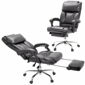 Barton Executive Reclining Office Chair Ergonomic High Back Leather Footrest