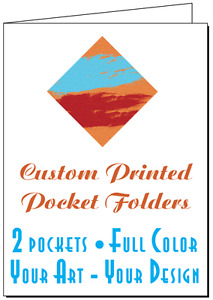 50 Printed Presentation Folders Full Color Custom 2 pocket Your Logo And Text