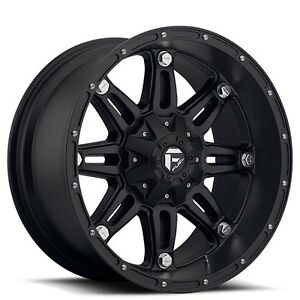 4wheels Off Road 18x12 Fuel Wheels D531 Hostage Matte Black Rims