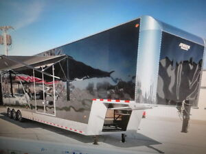 New 2016 Jensen 44 X 101 Gn Enclosed Cargo Car Trailer Tractor Pulling Trailer