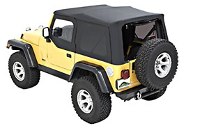 Black Soft Top Foldable Cover 2006 2005 2004 2003 2002 2001 2000 Jeep Wrangler