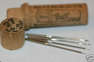 Wheeler Wilson 6 7 8 Treadle Sewing Machine Boye Needles Nos Xxx