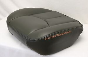 2003 2004 2005 06 Chevy Silverado Driver Bottom Replacement Seat Cover Dark Gray