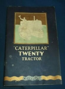 Cat Caterpillar Twenty Tractor Dozer Sales Brochure Book Manual 1927 Original