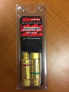 Smith Equipment Flashback Arrestor Set Torch Mount