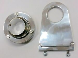 Universal 2 Swivel Base Floor Mount 4 1 2 Chrome Steering Column Drop Combo