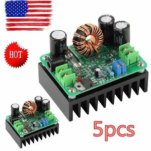 5x Dc dc 600w 10 60v To 12 80v Boost Converter Step up Module Car Power Supply