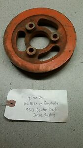 Allis Chalmers Simplicity 60 Rotary Mower 5020 9523 Tractor Center Drive Pulley