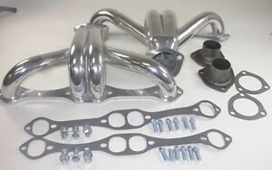 Ceramic Coated Small Block Chevrolet G M Hugger Shorty Headers S9968 Hot Rod