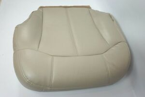 2000 2001 2002 Chevy Tahoe Suburban Driver Bottom Leather Seat Cover Tan 522 922