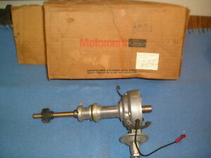 Nos 1957 1958 Ford Mercury Distributor 312 With Vacuum Advance C info 1956 1959