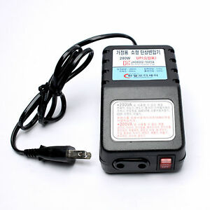 200w Mini Power Transformer Step Up 110v To 220v Portable Traveling Converter Il