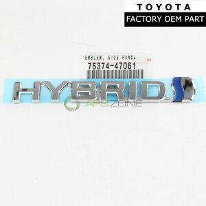 Genuine Toyota Prius Prius V Left Side Hybrid Fender Panel Emblem Oem 7537447061