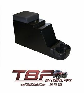 1966 1977 Early Ford Bronco Locking Console W Stereo Slot New