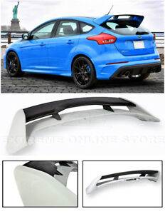 For 13 Up Ford Focus Hatchback Jdm Rs Style Primer Black Rear Roof Wing Spoiler