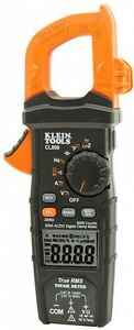 Klein Tools Digital Clamp Meter Measures Ac dc Voltage Resistance Frequency New