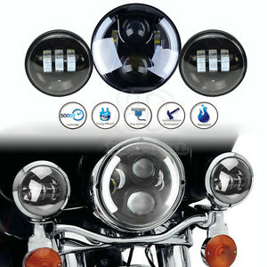 7 motorcycle Projector Headlamp Passing For Harley davidson Lights Led Headlight