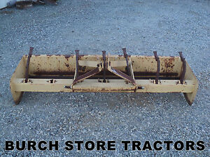 Heavy Duty Category 2 3 Point Hitch Box Blade 7 Foot Wide