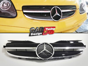 Front Grille Grill 2 Fin 1 Fin Look For 97 04 Mercedes Benz R170 Slk 230 320