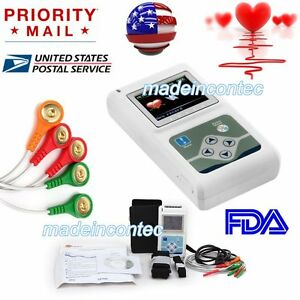 Tlc5007 Ecg ekg Holter System 3 Channel 24 Hours Recorder Monitor Us software