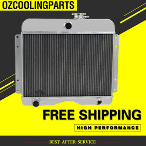 3row Aluminum Radiator For Jeep Willys station Wagon truck 475 L4 L6 1946 1964