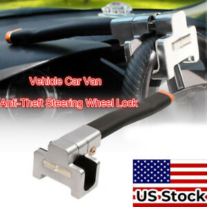 Auto Car Top Mount Steer Wheel Anti Theft Security Lock Clamps With Keys Us