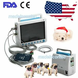 Us Vital Signs 6 Parameter Patient Monitor Vet Veterinary Use Ce Fda Approved