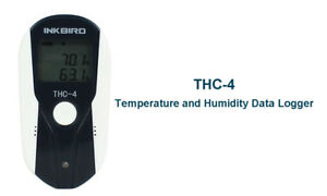 Thc 4 Lcd Display Usb Temperature Humidity Data Logger Recorder Sensor Reusable