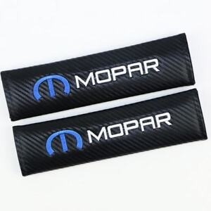 2pcs Mopar Carbon Fiber Auto Seat Belt Cover Pads Shoulder Cushion New